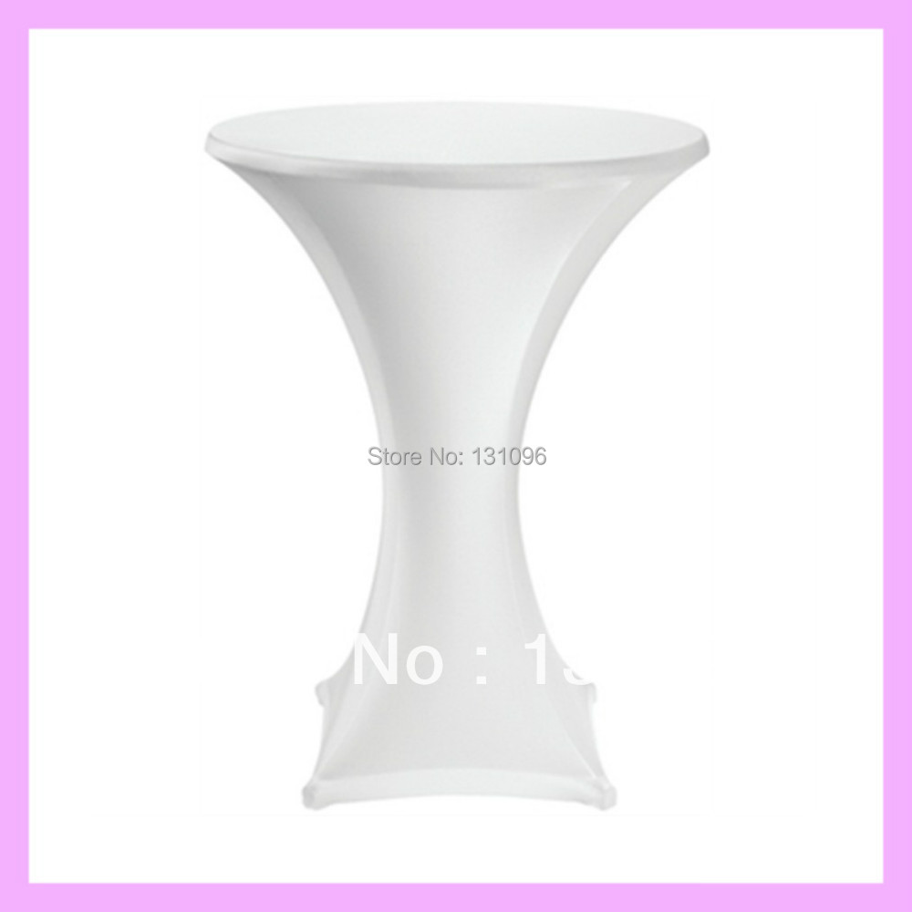 10pcs extra thicker white lycra high cocktail table cover for Cocktail tables high