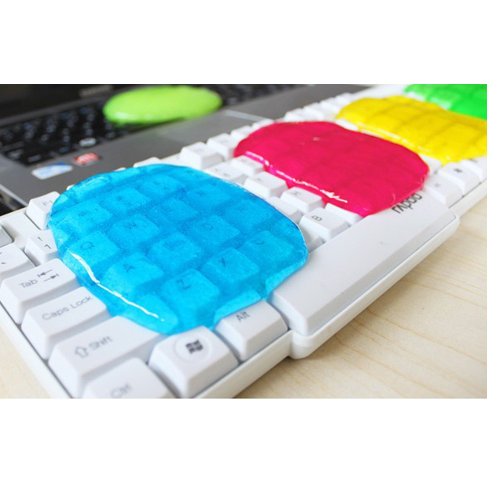 Soft Sticky Clean Glue Gum Gel Cleaning Interior Outlet Keyboard Dust Cleaner Household Gel Brush Cleaning Pads Tools(China (Mainland))