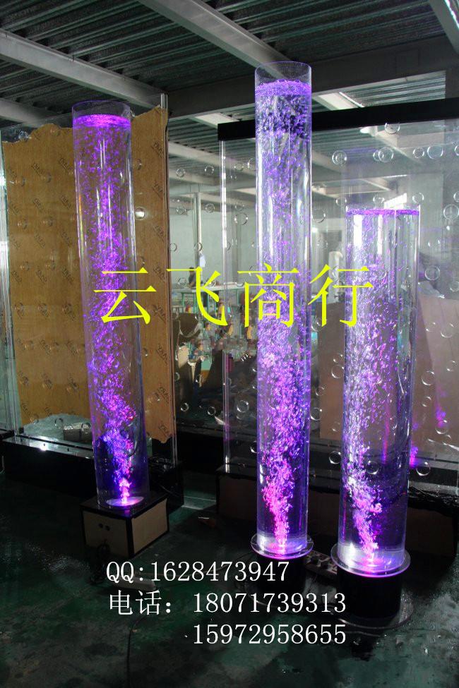 Feng Shui column crystal column bubble column type water lamp 2 high LED lamp Aperture: 25cm(China (Mainland))