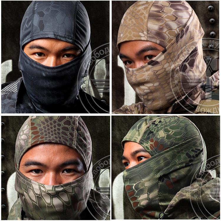 Chiefs Rattlesnake Tactical Airsoft Hunting Wargame Breathing Dustproof Face Balaclava Mask Motorcycle Skiing Cycling Full Hood - ayingsong's store