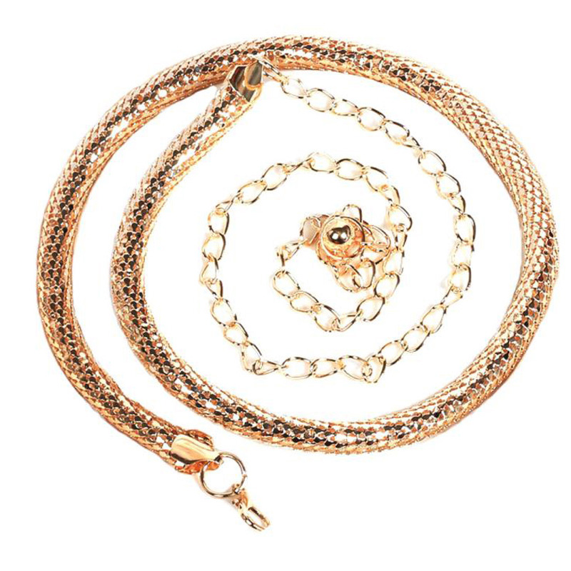 2016 Trendy Fashion Womens Belts Golden Color Metal Belt Women Ladies Snake Bones Chain Waist Strap Body Chain Cinturones Mujer(China (Mainland))