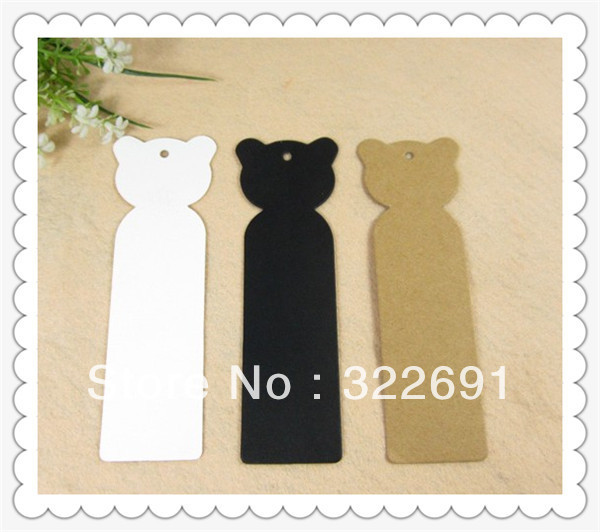 Wholesale 350GSM cheap cartoon craft paper garment tags in stock, 2-colours DIY bookmarks /gift tags(China (Mainland))