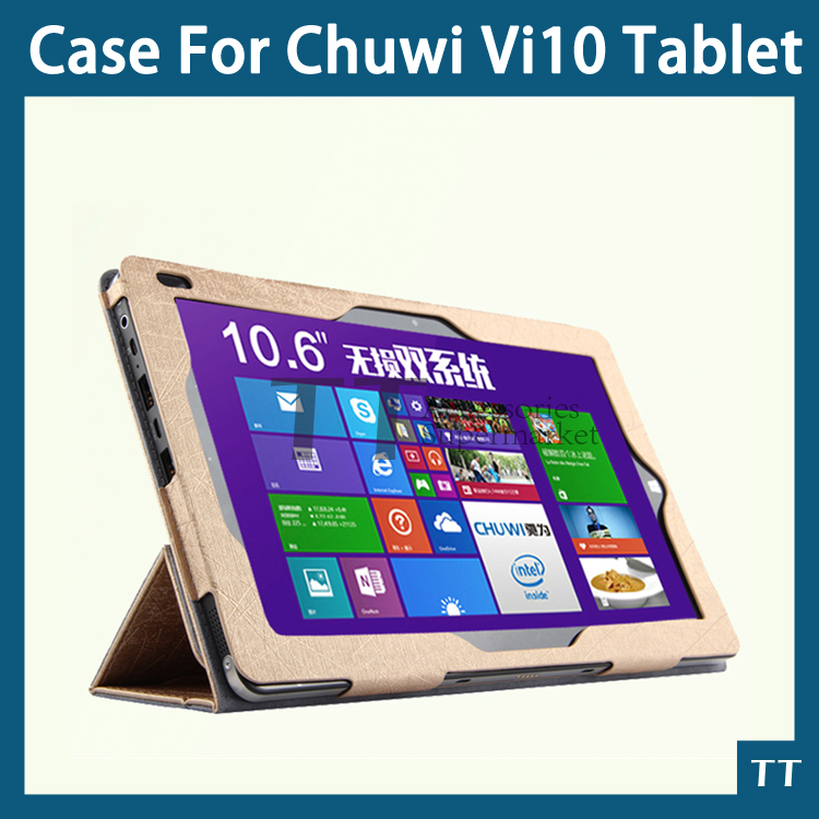Original High quality PU case for Chuwi vi10 10.6 inch Tablet PC Chuwi vi10 case cover + free 3 gifts(China (Mainland))