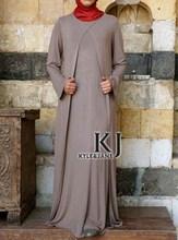 long sleeve women abaya vestido Rayon + elasticity party Muslim abaya 4musulmane free shipping KJ-WAB30044(China (Mainland))