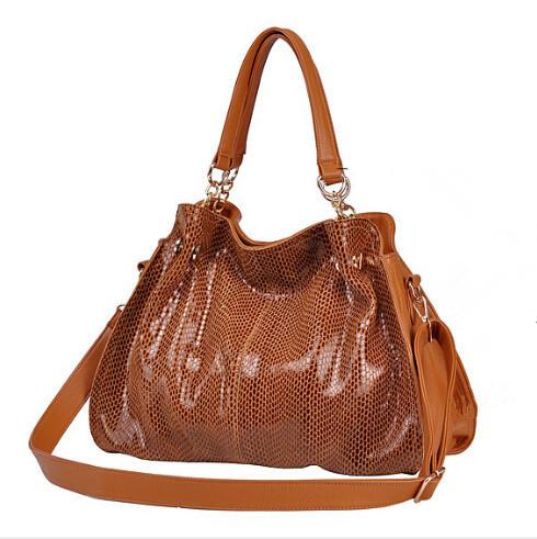 Fashion snake pattern desigual Genuine Composite Leather bag Brand women Handbag larger shoulder bags retro luxury Glisten Tote(China (Mainland))