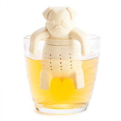 1Pc Lovely Tea Strainers Pug In A Mug Silicone Tea Infuser Kawai Portable Dog Tea Strainers infuser Filter Gift Free Shipping(China (Mainland))