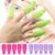 2016 10x Бантом Пластиковые Nail Art Soak Off Клип Cap УФ-Гель Для Снятия Лака Инструмент 8LMV