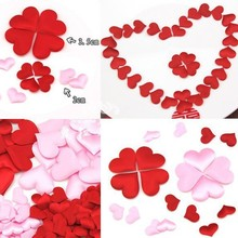 Heart petals Wedding Valentines Day 100pcs/bag 3.5*3.5cm Throwing Table Decoration Party Supply