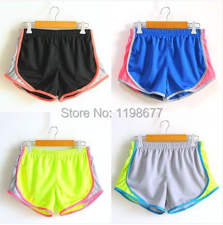 2014 Hot Women Sport Shorts Summer Drawstring Elastic Mash Casual Inner Lining Shorts Running Swimwear Beach Shorts Quick Dry(China (Mainland))