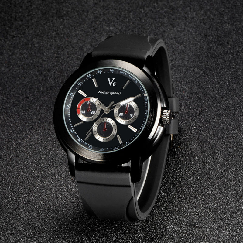 2015. The latest classic V6 design unique sports men watch. Imported movement of quartz watches. Leisure fashion watches(China (Mainland))