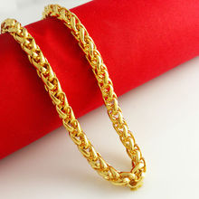 Wholesale Super deal New Arrival Fashion Jewelry Chopin / whip necklace 24K Gold Necklace Men Jewelry, Free Shipping HJB039(China (Mainland))