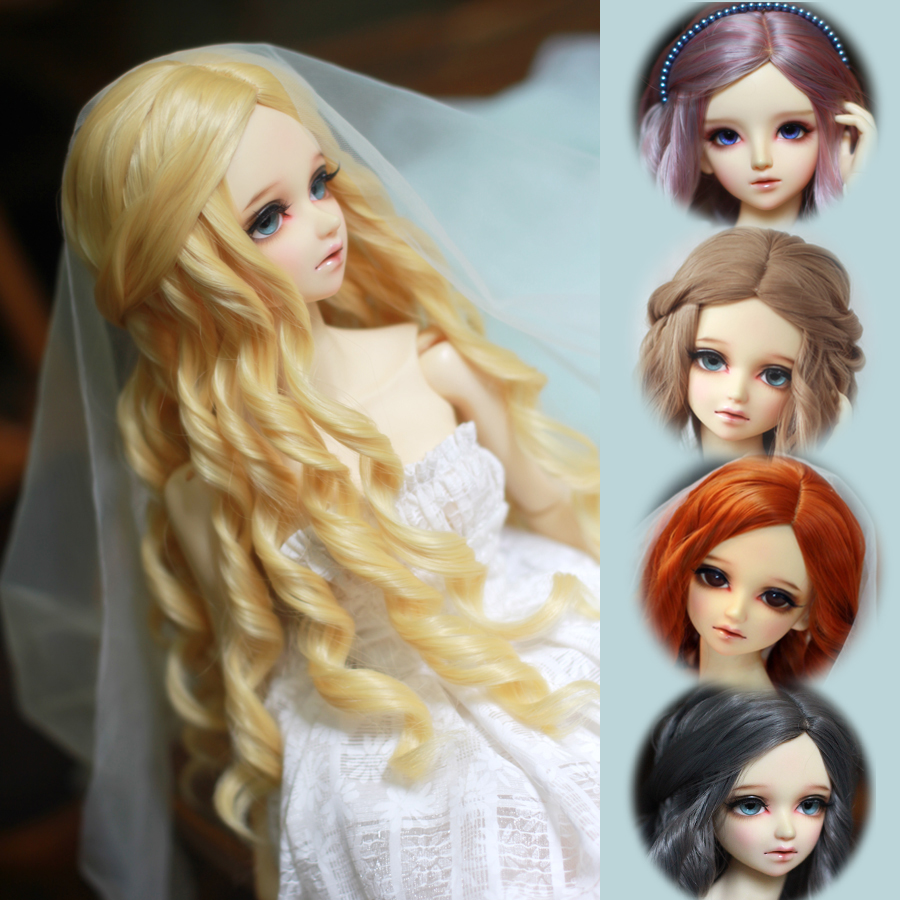 2015 New arrival 1/3 Bjd wig nobility big wavy heat-resistant wire bjg wig Free Shipping <br><br>Aliexpress