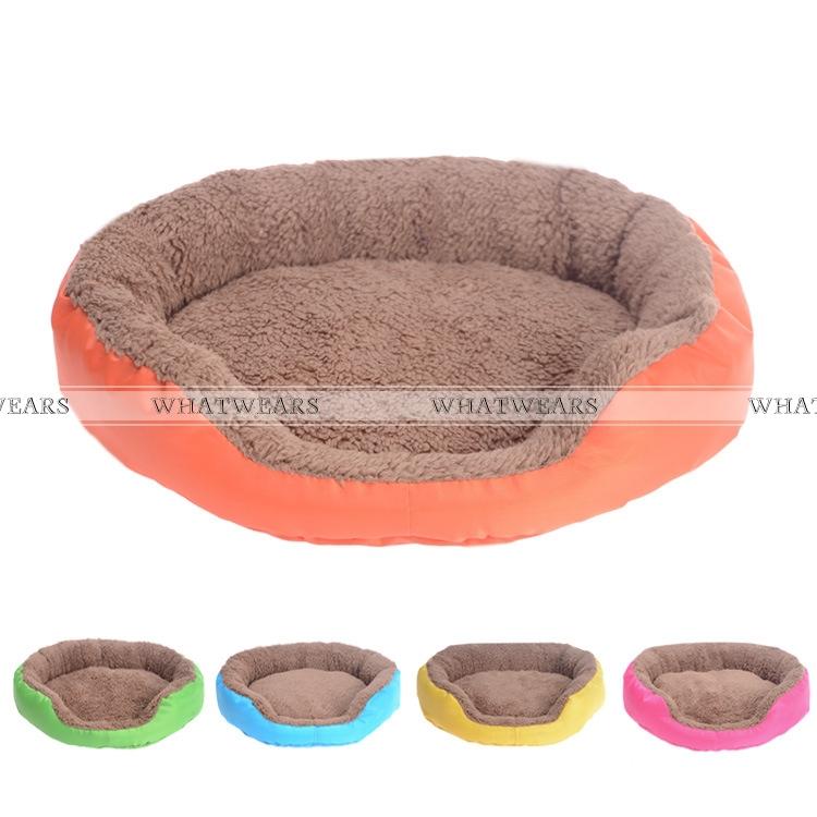 Soft Fleece Dog House Pet Dog Bed Winter Warming Dog Cat Kennel cama para cachorro 5 Colors 3 Size(China (Mainland))