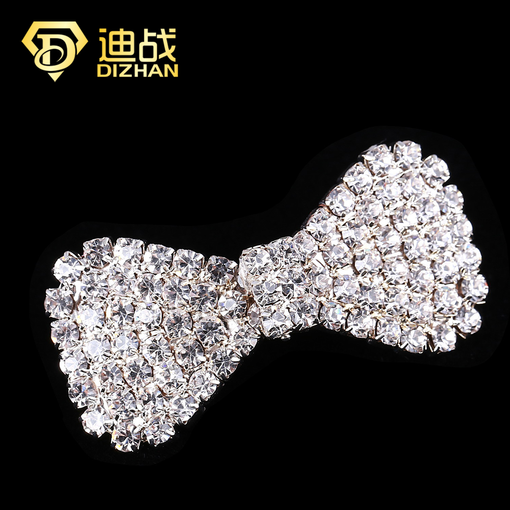 Shiny Collocation Fashion Silver gold color Crystal Bow hairpin Hair Accessories Full Bowknot Clip women - Mina's store ( Min order is $10,mix store)