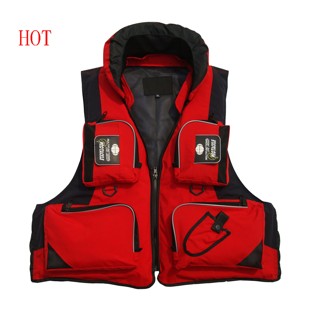 Free shipping purchase fishing clothing hooded fishing fishing vest life jacket lifejacket disassemblability swimming aid vest(China (Mainland))