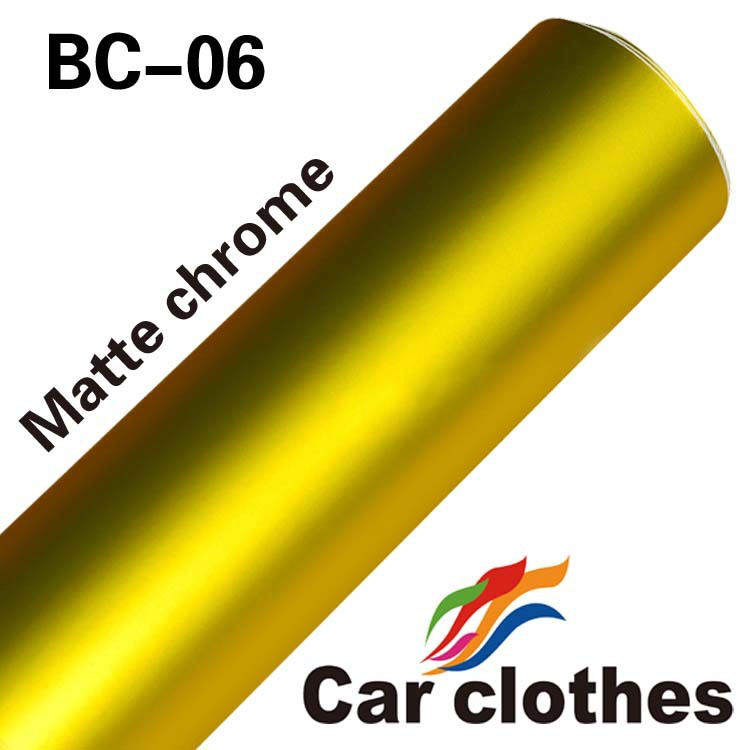 High Quality 1.52x20m Full Body Car Sticker Car Styling Vinyl Car Wrap Chrome Matte Film(China (Mainland))