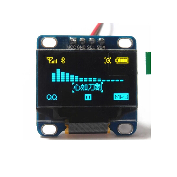 """High Quality 0.96"""" Inch Yellow and Blue I2C IIC OLED LCD Module Serial 128X64 LED Display for Arduino 51 MSP420 STIM32 SCR(China (Mainland))"""