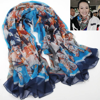 Free Shipping! Min. Order is 10USD(Can Mixed Order) Fashion autumn and winter  ultra long large facecloth faux silk scarf