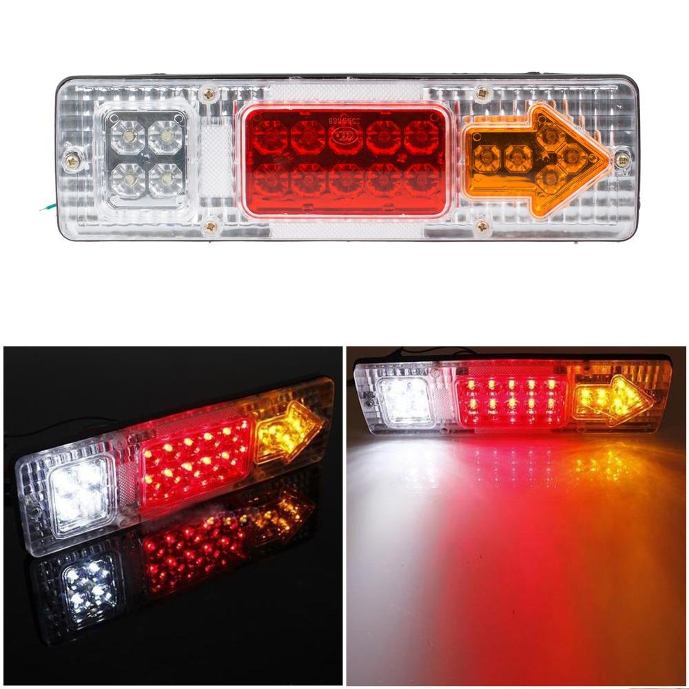Car Led Rear Lights 12V Truck Trailer Caravan Van Rear Tail Stop Reverser Indicator Turn Light Lamp(China (Mainland))