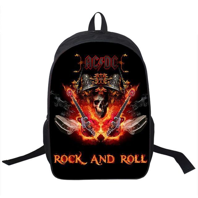 Рок-группа ACDC рюкзак из светодиодов Zeppelin / розовый флойд панк рюкзак мужчины ...