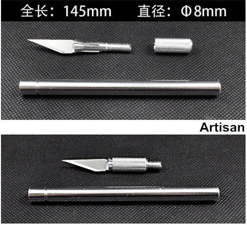 Aluminum body sharp wood carving pen knife film tools paper cutter PCB carving knife with 5pcs