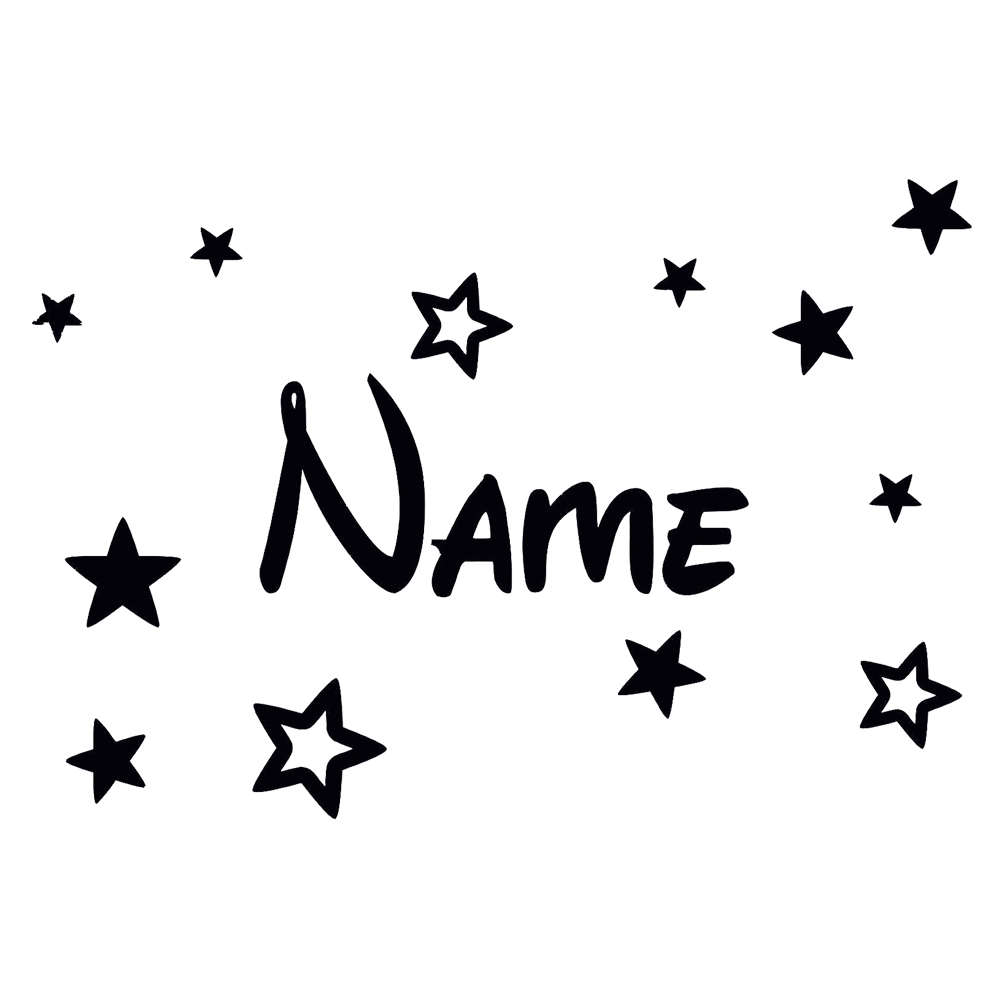 Free Shipping Personalised Boys or Girls Name With Stars Decor Vinyl Wall Sticker Decal Wallpaper Home Decoration Size30*20cm(China (Mainland))