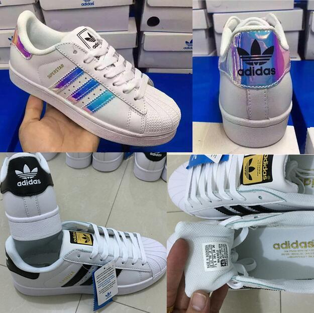 Adidas Superstar Original Fashion Sneaker, White/Silver