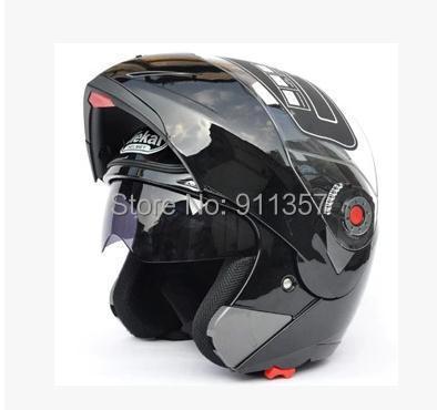 Bestsell safety Jiekai flip up capacete motorcycle helmets double lens motorcycle helmet full face helmet with inner sun vsior(China (Mainland))