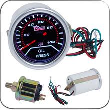 2″ 52MM Universal Oil Pressure Car Gauge 0-100PSI Meter Auto White LED