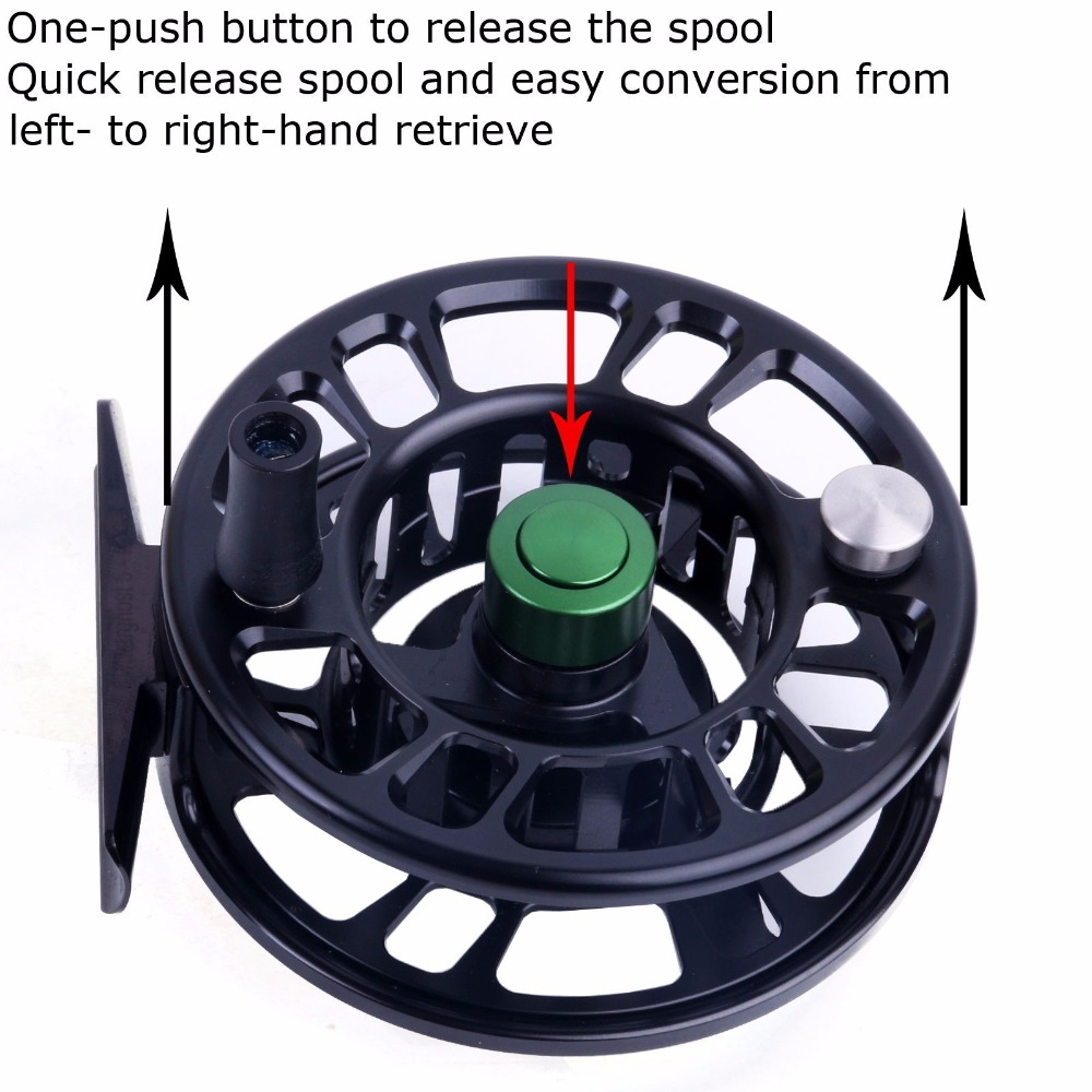 Maxcatch NZ 5/6 Weight Fly Fishing Reel CNC Machine Cut Large Arbor Aluminum Fly Reel(China (Mainland))