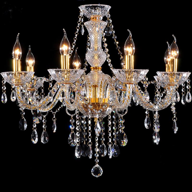 Chandelier 8 Light Modern Fashion Gold Crystal Lamp