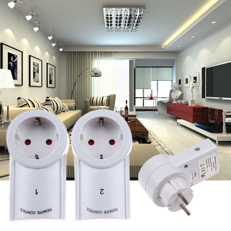 EU 3 Pack Wireless Remote Control Power Outlet Light Switch Plug Socket(China (Mainland))