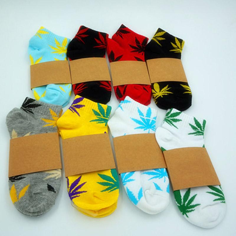 High Quality 20 Colors Men's Weed Socks Men Women Sports Marijuana Style Skateboard Cotton Calcetines Hip Hop Socks Meias WZ008