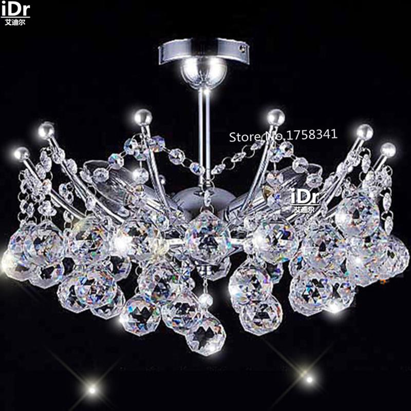 Free shipping empire Mini Crystal Chandelier Chrome Finish christmas lights Hanging kit Guaranteed100%(China (Mainland))
