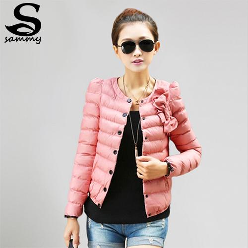 2014 new women ZAB padded jacket to keep warm in winter, ladies fashion, decorative bow, Slim short jacket Outerwear & Padded(China (Mainland))