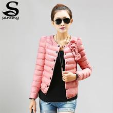 2014 new women ZAB padded jacket to keep warm in winter ladies fashion decorative bow Slim