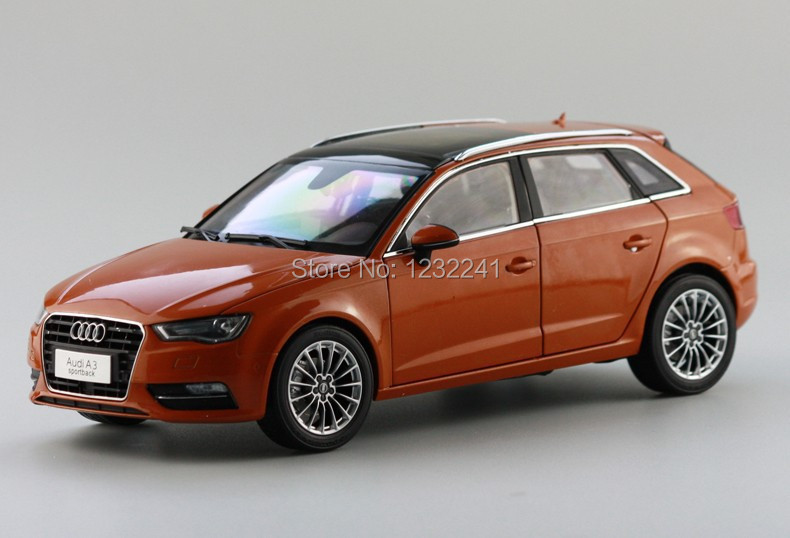 New Details 1:18 China Volkswagen VW AUDI A3 SPORTBACK alloy car model simulation Toys Gift for Children,Orange Free Shipping(China (Mainland))