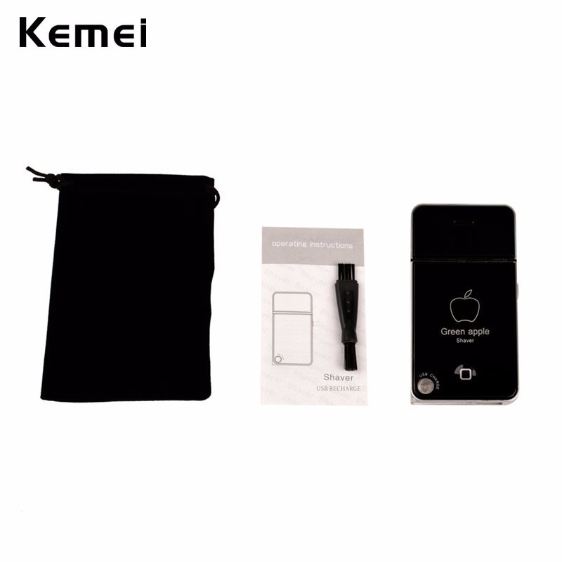 Kemei USB Men Close Shaver Rechargeable Reciprocating Blade Electric Razor Shaving Face Care Cleaning Beard Removal Tool Travel
