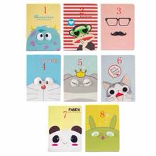 Cartoon Case for iPad Mini 1 2 3 Cute Animal Monkey Panda Glass Design Leather Stand Case Cover(China (Mainland))