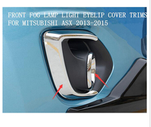 Buy ASX Outlander sport 2013 2014 2015 ABS Chrome Front Fog Lamp Light Cover Trim 4pcs Glossy for $29.89 in AliExpress store