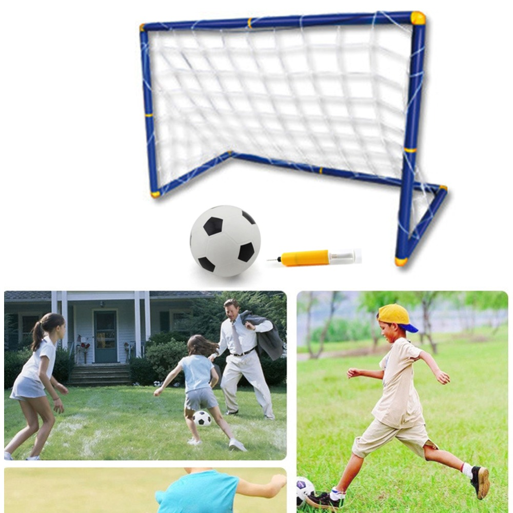 2016 New Portable Folding Children Kid Goal Football Door Set Football Gate Outdoor Indoor Toy Sports Toy(China (Mainland))