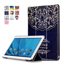 Colorful Painted PU Leather Case Magnetic Smart Cover For Huawei MediaPad M2 10 M2-A01W M2-A01L M2 10.0 10.1 Tablet Flip Cover