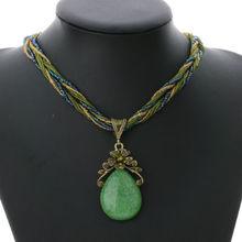 Elegant fashion style retro ethnic style alloy rhinestone necklace Pendant Chain Choker Bib Statement Necklace(China (Mainland))