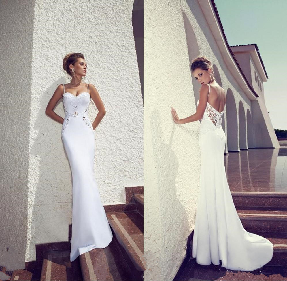 Mermaid Wedding Gowns With Long Trains : Long mermaid bridal dress sweetheart count train sexy beaded wedding