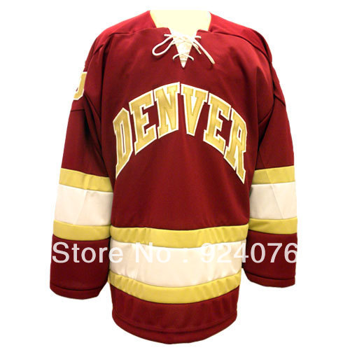 Custom N C A A University of Denver Pioneers K1 Home Jersey - Customized Hockey Jersey Any Number, Any Name Sewn On (S-6XL)<br><br>Aliexpress