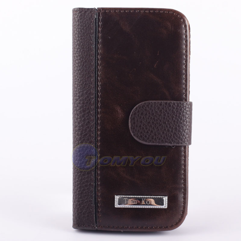 New Arrival Wallet Leather Stand Design Case For iPhone 5 5S SE 5G Cell Phone PU Original with Card Holder Grain Black Brown(China (Mainland))