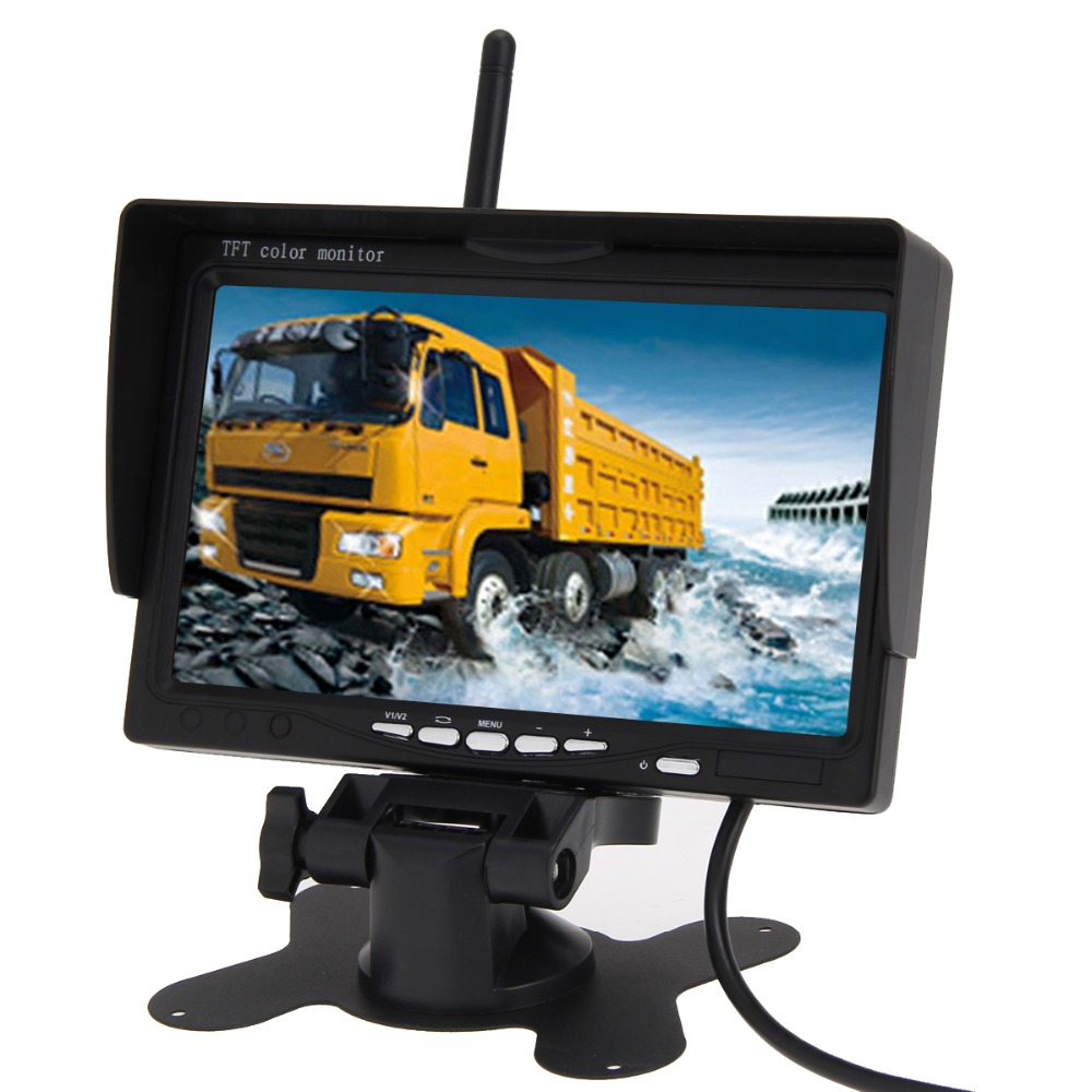 "BUH9 7 inch Wireless IR Night Vision Rear View Back up Camera System+7"" Monitor for RV view camera monitor bus Free Shipping(China (Mainland))"