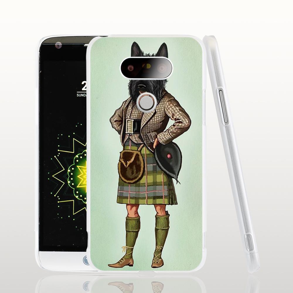 22909 Scottie Dog font b Kilt b font scottish terrier Animal cell phone case cover for