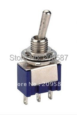 50pcs 3-Pin SPDT ON-ON Toggle Switch 6A 125VAC Mini Switches