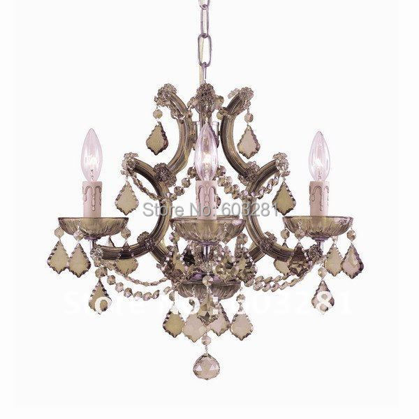 ATN4001/4P-Golden Teak,6 Light Maria Theresa Chandelier,Polished Chrome Gold + - AUTUMN LIGHTING FACTORY store